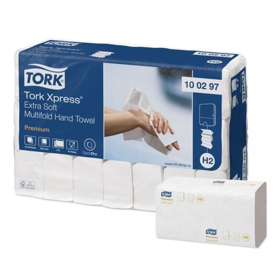 Prosoape hartie pliate, 100 buc / pachet, 2 straturi, 34 x 21 cm Tork Xpress Extra Soft