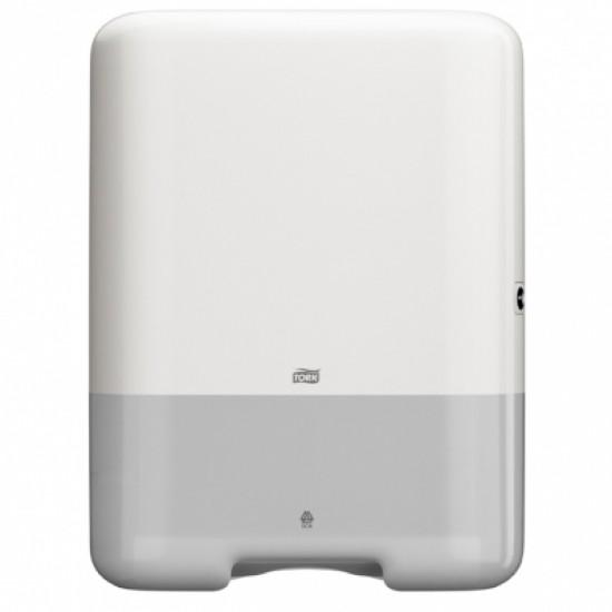 Dispenser prosoape hartie mare Tork, alb, V Fold, capacitate 500 servetele