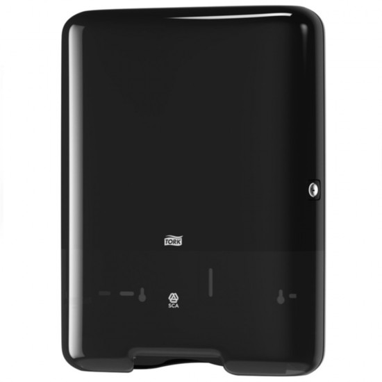 Dispenser prosoape hartie mare Tork, negru, V Fold, capacitate 500 servetele