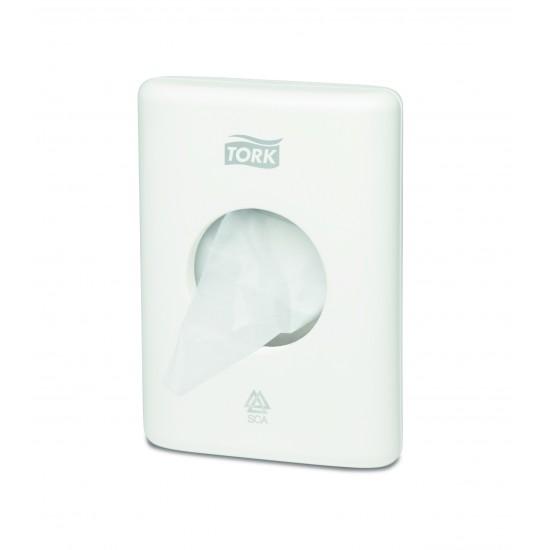 Dispenser pungi igiena feminina Tork alb