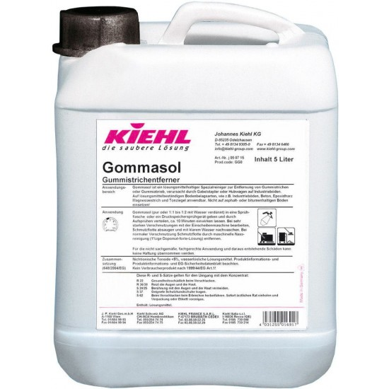 GOMMASOL-detergent Manual/Automat pentru indepartarea urmelor de guma(cauciuc) 5L,  Kiehl